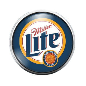 Miller Lite- 18MM Glass Dome Candy Snap Charm GD1085