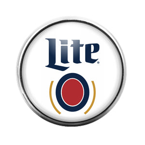 Miller Lite- 18MM Glass Dome Candy Snap Charm GD1086