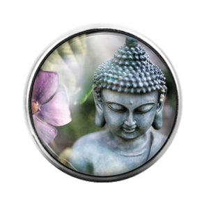 Buddha - 18MM Glass Dome Candy Snap Charm GD1287