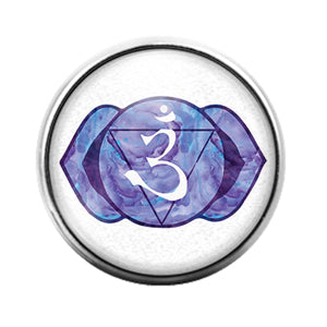 Chakra Symbol - 18MM Glass Dome Candy Snap Charm GD1291