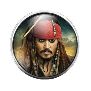 Jack Sparrow - 18MM Glass Dome Candy Snap Charm GD0328