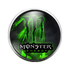 Monster Energy - 18MM Glass Dome Candy Snap Charm GD0356