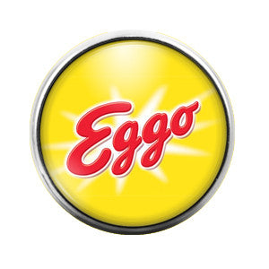 Eggo - 18MM Glass Dome Candy Snap Charm GD0357