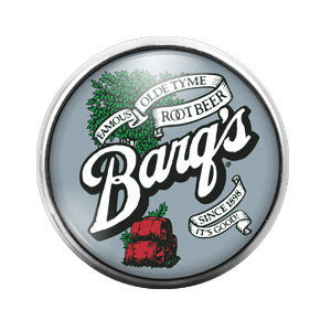 Barq's Rootbeer- 18MM Glass Dome Candy Snap Charm GD0372