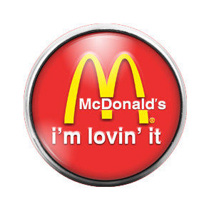 Mcdonalds - 18MM Glass Dome Candy Snap Charm GD0218