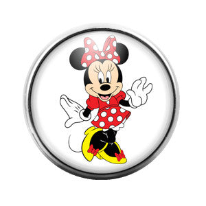 Minnie Mouse - 18MM Glass Dome Candy Snap Charm GD0213