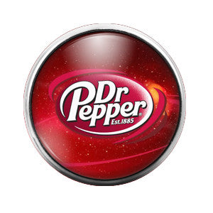 Dr. Pepper - 18MM Glass Dome Candy Snap Charm GD0202