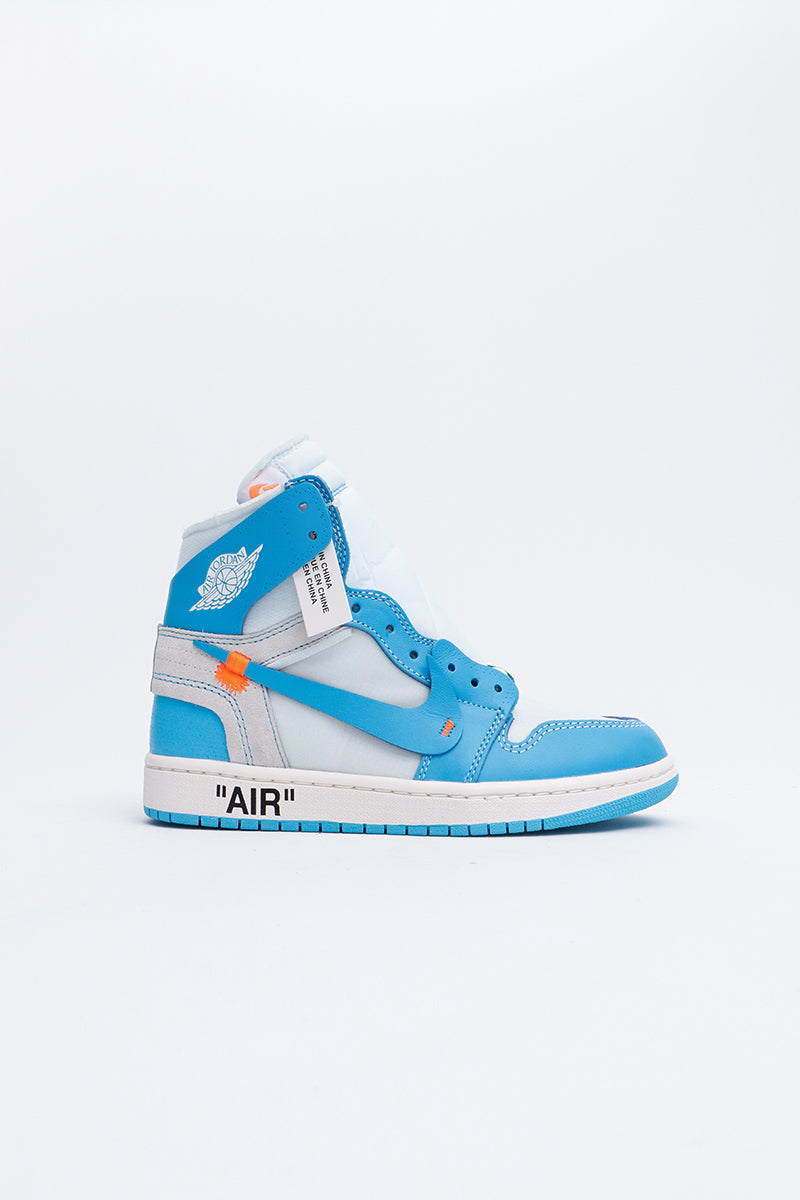 Air Jordan - 1 x OFF - WHITE NRG (White/DK Powder Blue-Cone Blanc) AQ0818-148