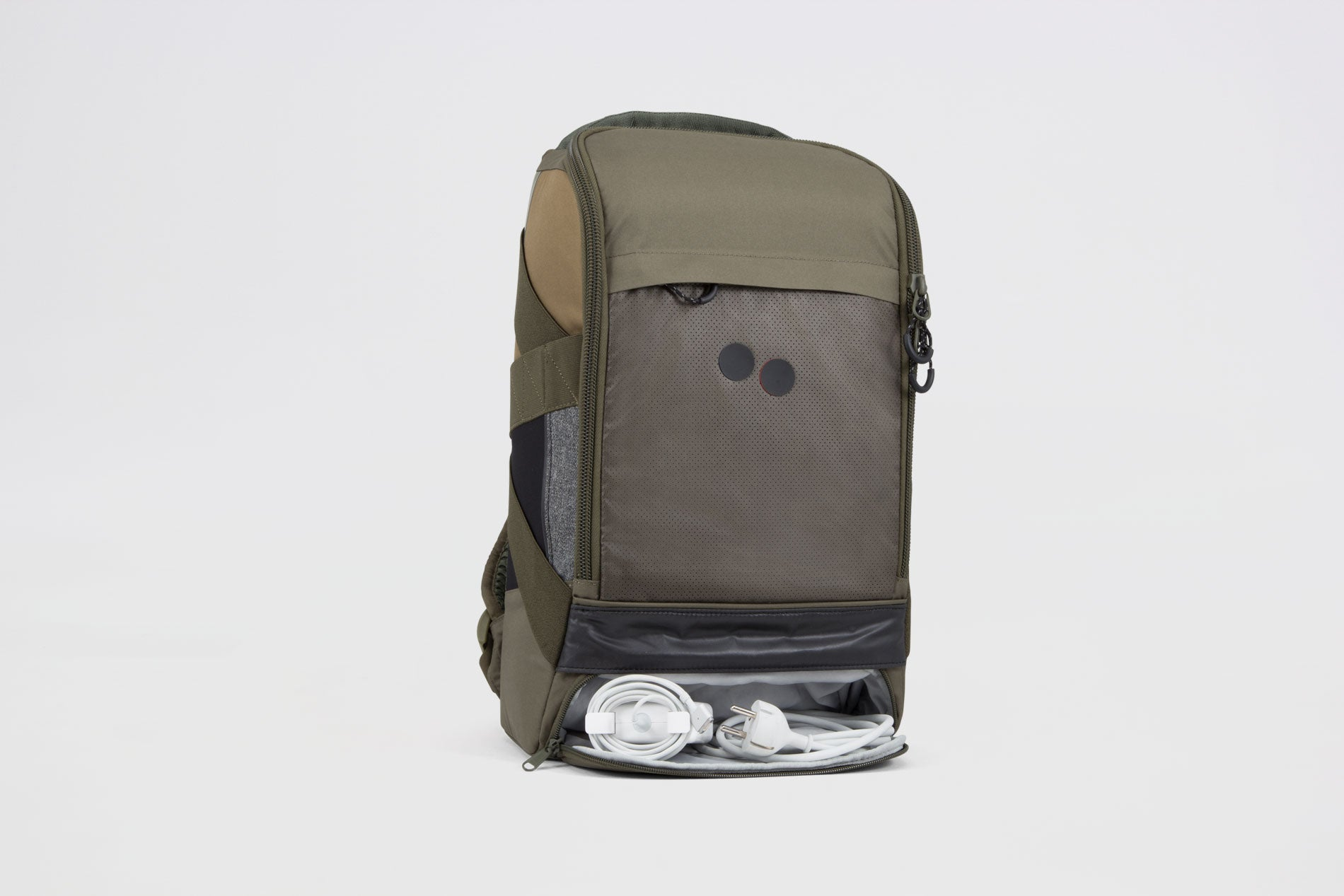Pinqpong - Backpack Blok Medium (Tape Olive) PPC-BPM-001-253B