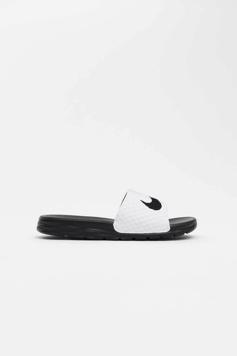 Nike - Benassi Solarsoft Slide (White/ Black) 705474-100