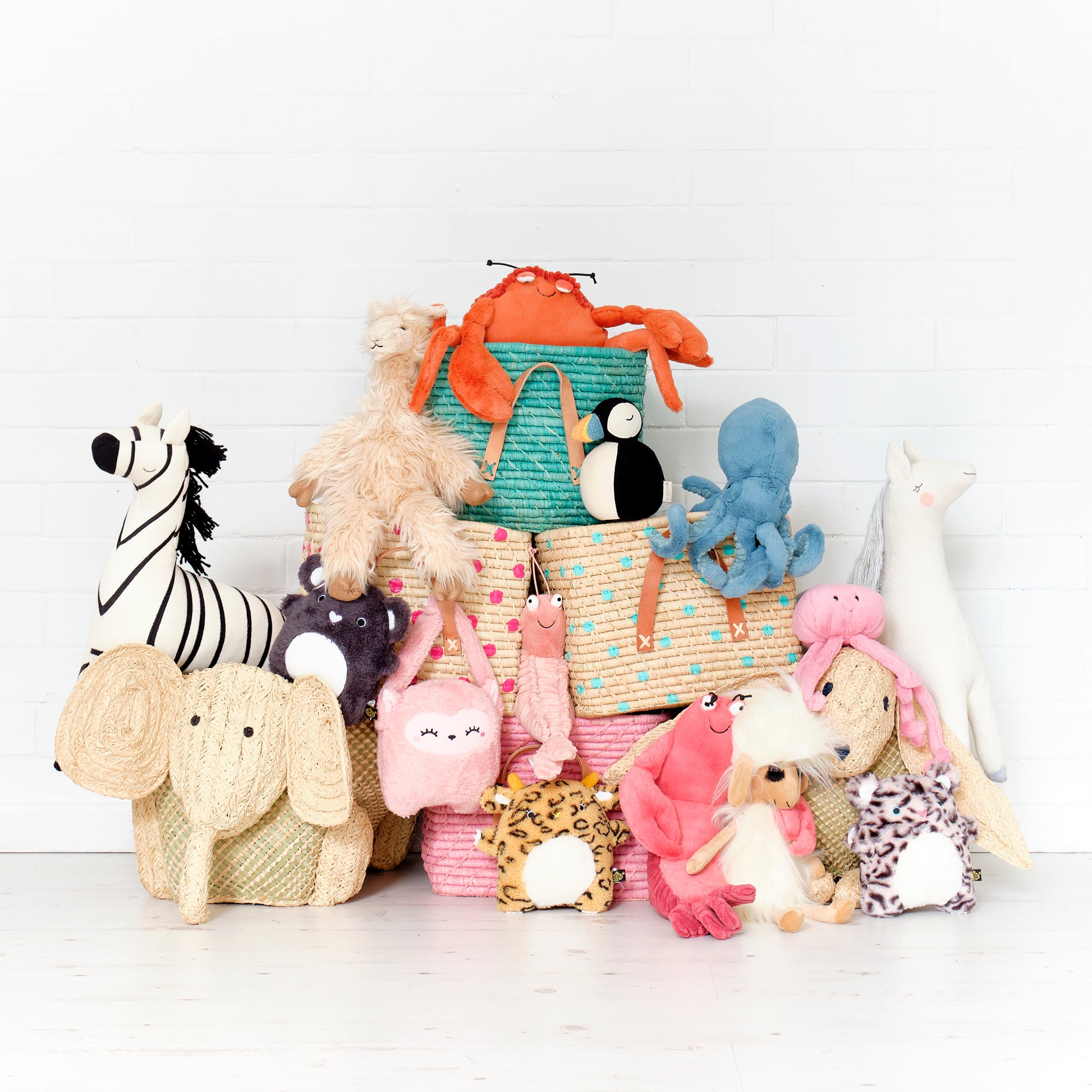 Baskets and Soft Toys, styled by Bobby Rabbit, as featured in Our Royal Baby Book.
