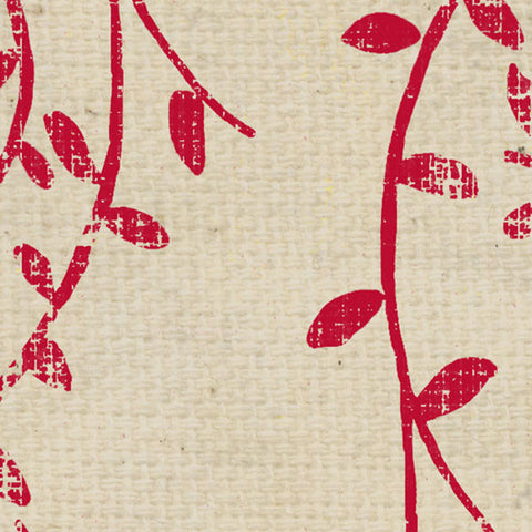 ***WHRWSV8 - Red Wagon Stenciled Vines Paper  8 1/2 x 11