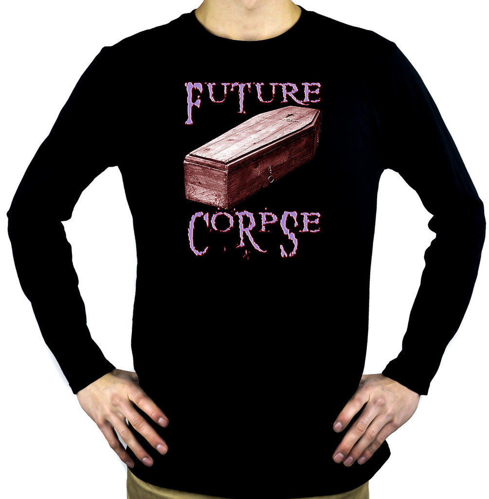 Future Corpse w/ Coffin Men's Long Sleeve T-Shirt Gothic Clothing
