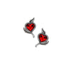 Alchemy Gothic Loves Blossom Heart Earrings