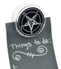 White Sabbatic Baphomet Magnet Clip Occult Novelty Gift Fridge Mag