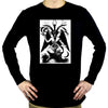 Original Baphomet By Eliphas Levi Men's Long Sleeve T-Shirt Occult Clothing