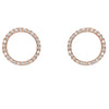 circle o-design earrings