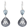 blue topaz stone earrings
