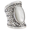 sterling silver with mother of pearl stone ring