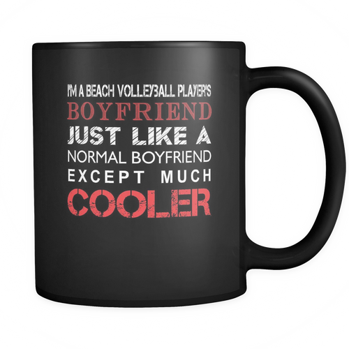 Beach volleyball player's 11 oz. Mug. Beach volleyball player's funny gift idea.