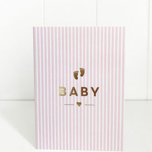 Card Baby Stripes Pink - Maissone