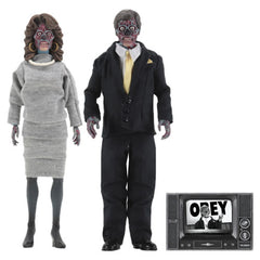 "Retro Clothed Action Figures - They Live - 8"" Aliens (Male / Female) 2-Pack"