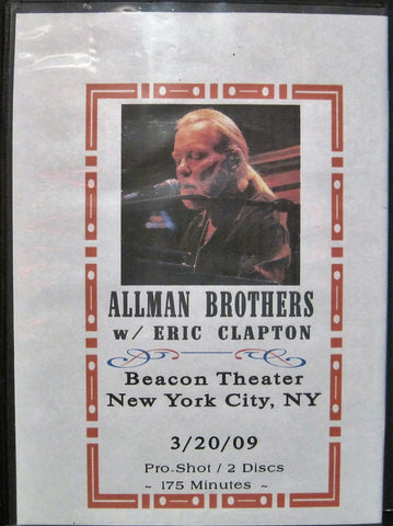 Allman Brothers with Eric Clapton at The Beacon Theatre NYC 2009