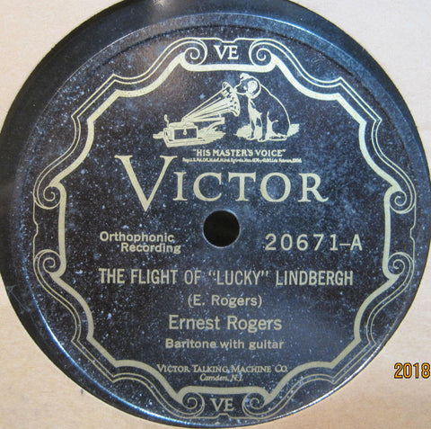 Ernest Rogers - The Flight of Lucky Lindbergh b/w Story of The Mighty Mississippi