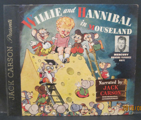 Jack Carson Presents Willie and Hannibal in Mouseland 78rpm Album