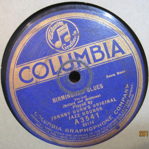 Johnny Dunn's Original Jazz Hounds - Bugle Blues b/w Birmingham Blues