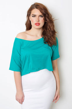 Jade Relaxed Fit Crop Top plus sizes