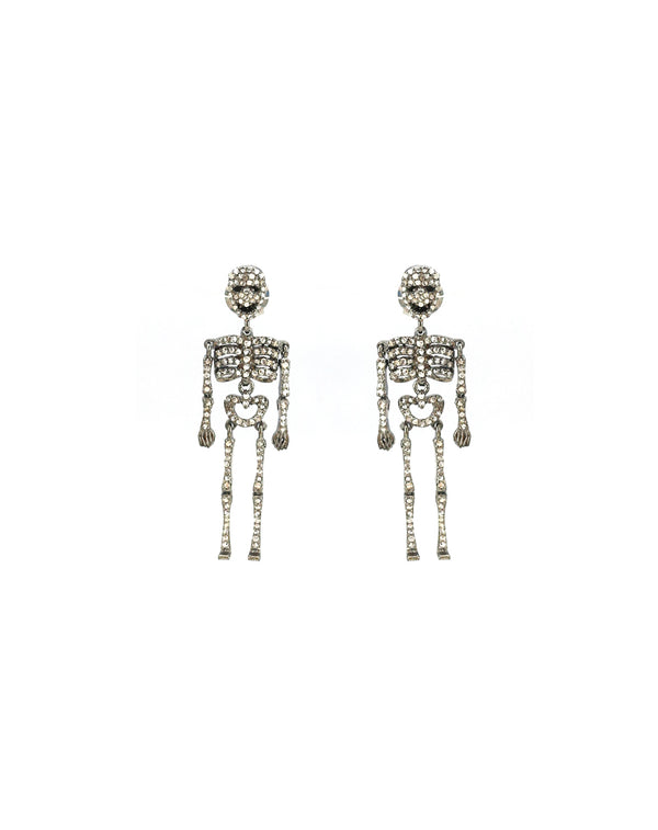 Diamond Skeleton Earrings