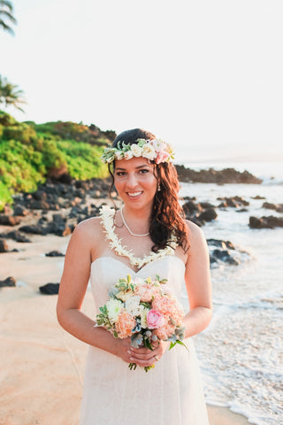 Brides Hawaiian Haku Head Lei (Popular)