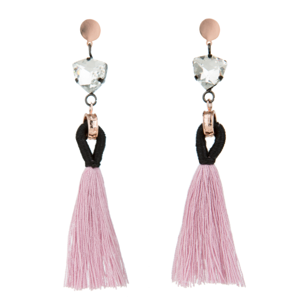 50% OFF Angelique Tassel Earrings - Blush