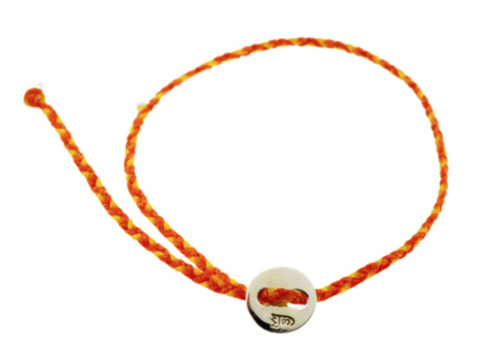 Friendship Bracelet Orange and Yellow
