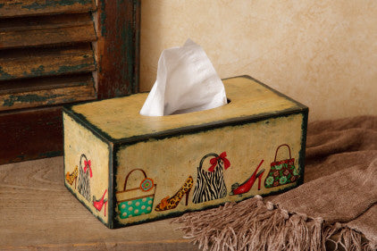 Tissue Box Cover (rectangle)-Shoes & Purses