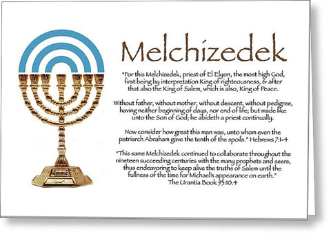 Greeting Card - Melchizedek l Design