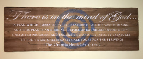 "Wooden Art - Quotes From ""The Urantia Book"""