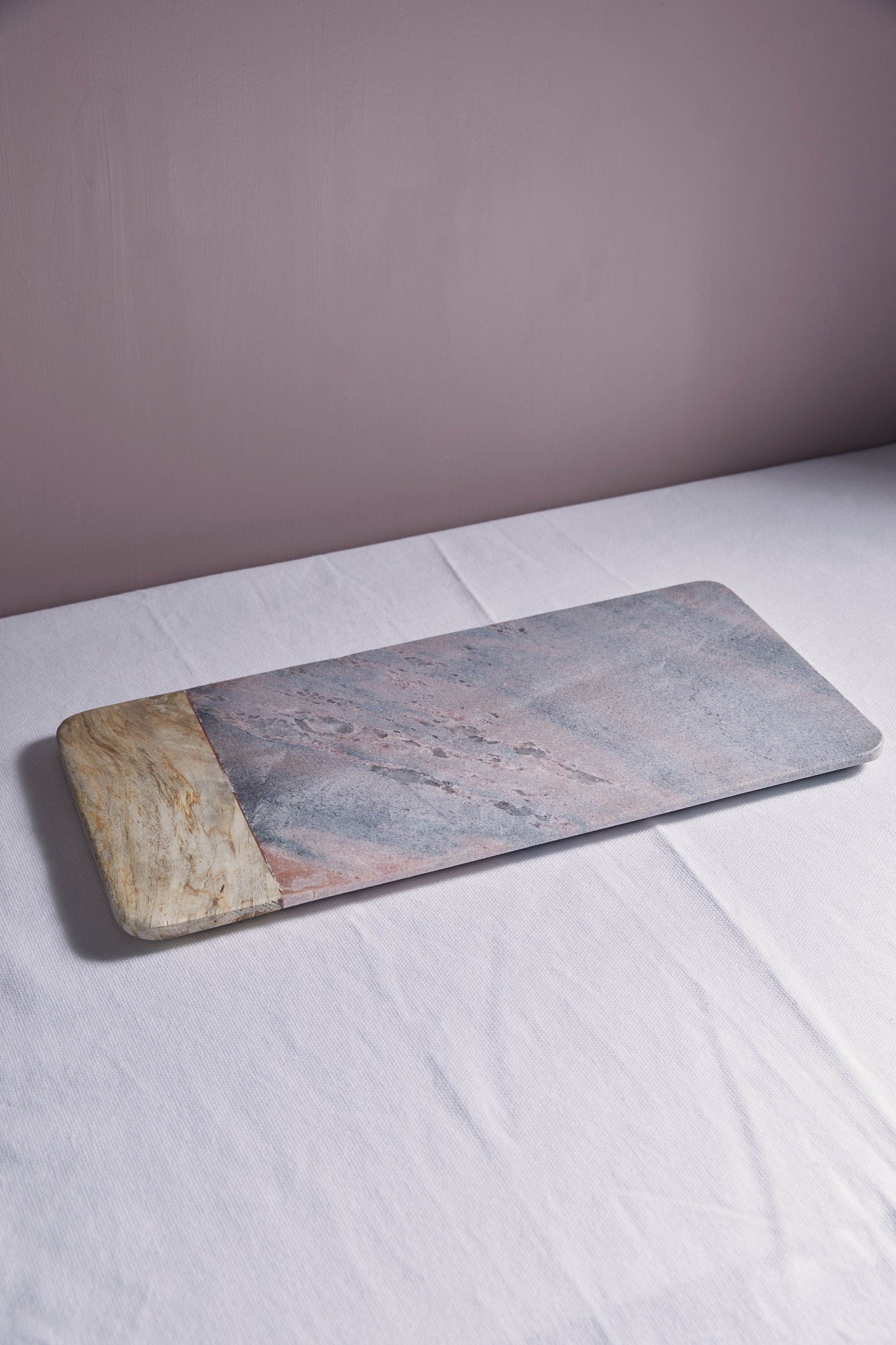 Pink Marble and Mango Wood Cheese Board - picnic-sf