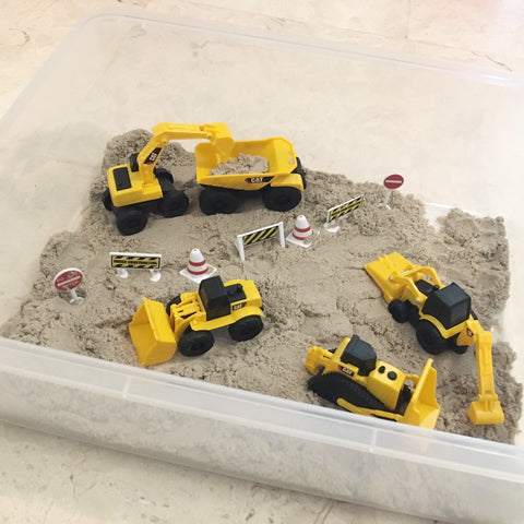 Construction zone kinetic sand play set - 1kg sand