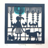 Dog Walking Limited Edition Paper Cut