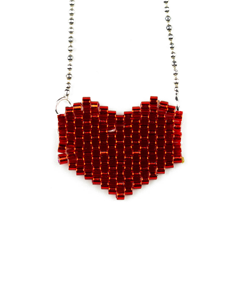 Collar Corazon Rojo Miyuk