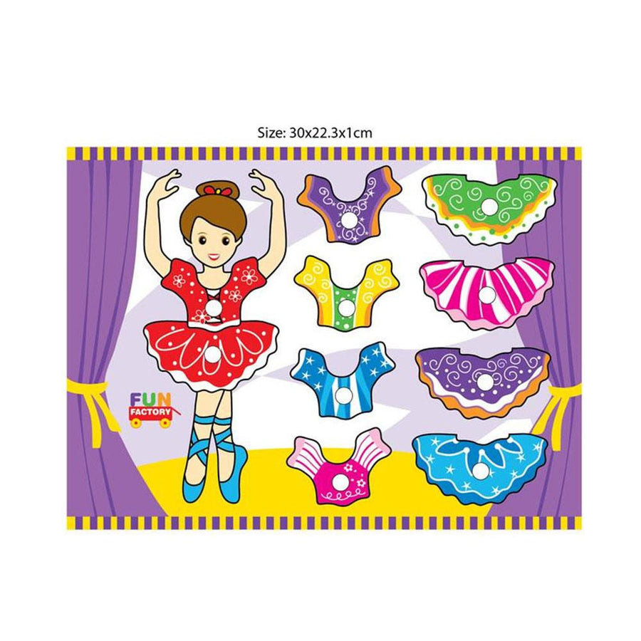 Fun Factory - Ballerina Mix n Match Puzzle - CleverStuff