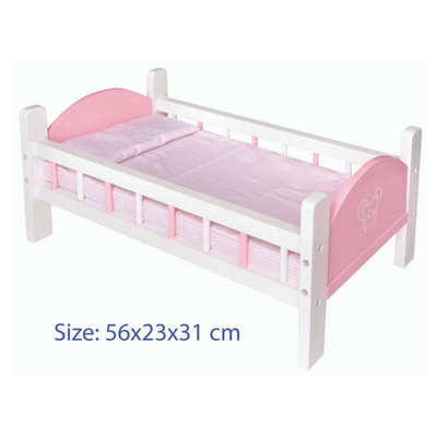 Viga - Doll Bed with Bedding - Pink - CleverStuff