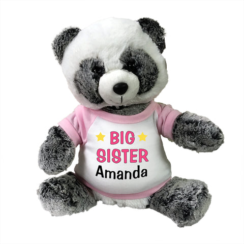 "Big Sister Panda Bear - Personalized 11"" Ping Panda"