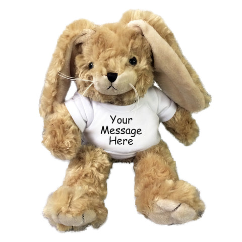 "Personalized Stuffed Rabbit - Small 10"" Tan Bunny"