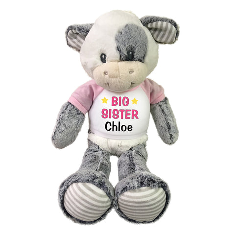 "Big Sister Cow - Personalized 20"" Coby Cow"