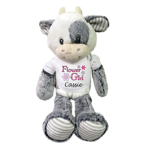"Flower Girl Cow -  Personalized 20"" Coby Cow"
