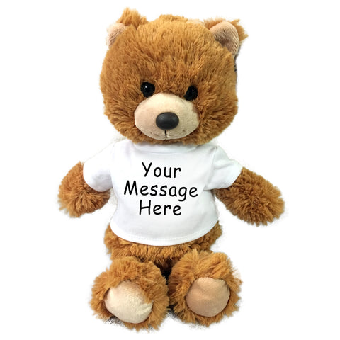 Personalized Teddy Bear - Small 10 inch Cuddle Pals Brown Bear