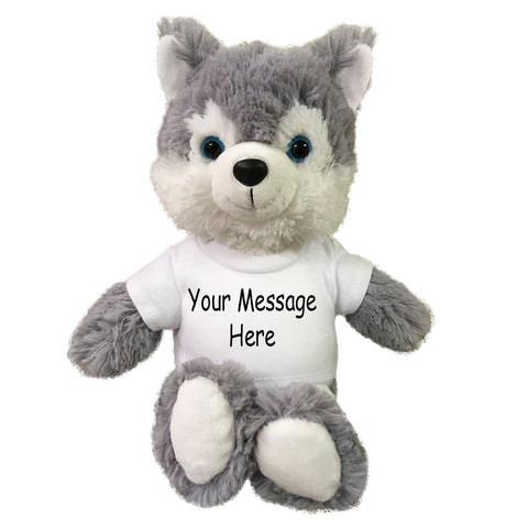 Personalized Stuffed Wolf - Small 10 inch Cuddle Pals Wolf / Husky